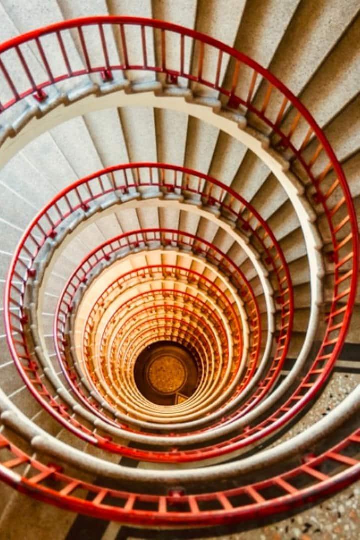 Skyscraper stairs