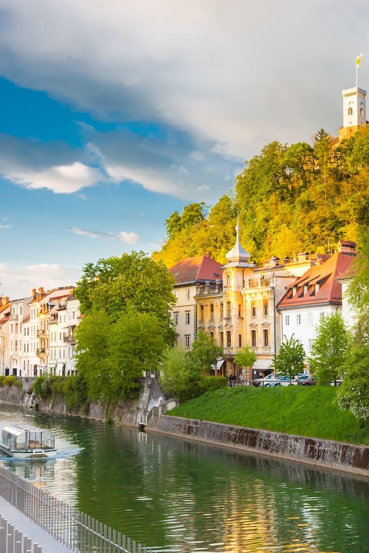 Ljubljanica river canal