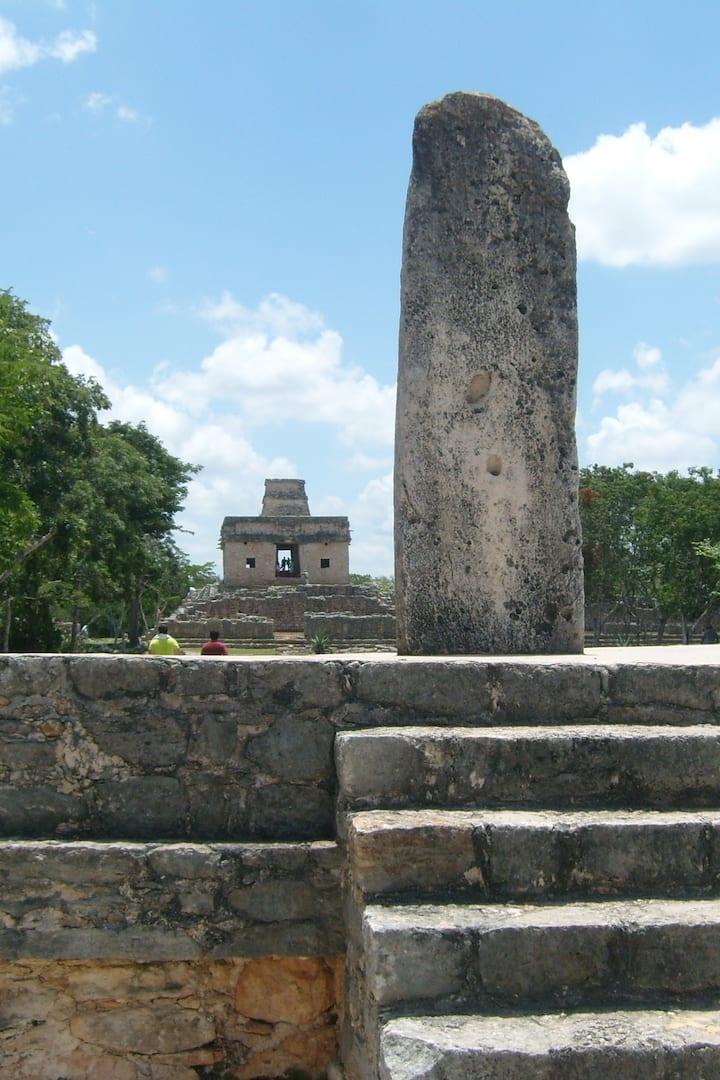 Dzibilchaltun ciudad maya con Museo