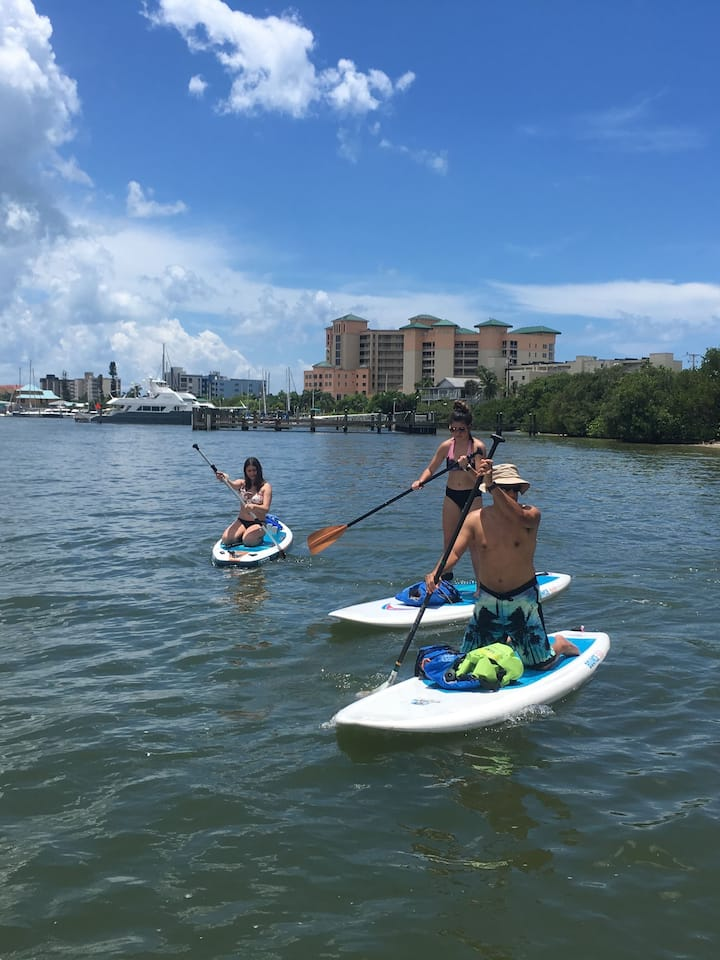 Paddling out to San Carlos Bay from Bowditch