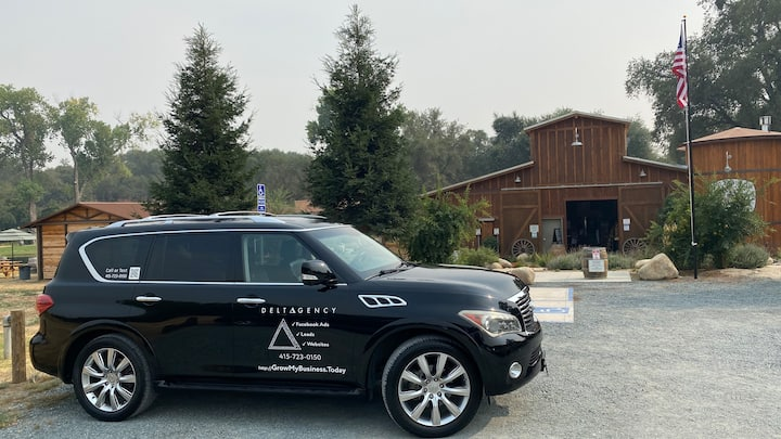 Your Luxury SUV chariot -  at a Brewery.