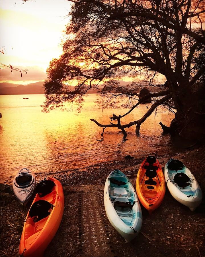 Comfortable kayaks