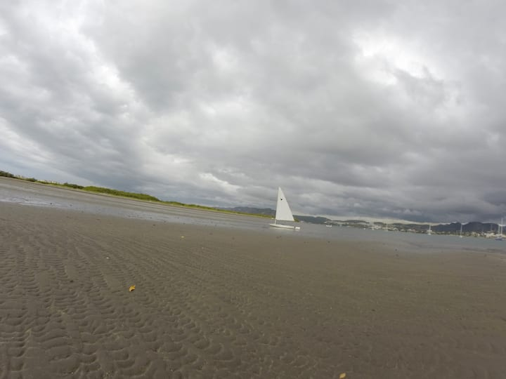 Low tide with beutiful clouds