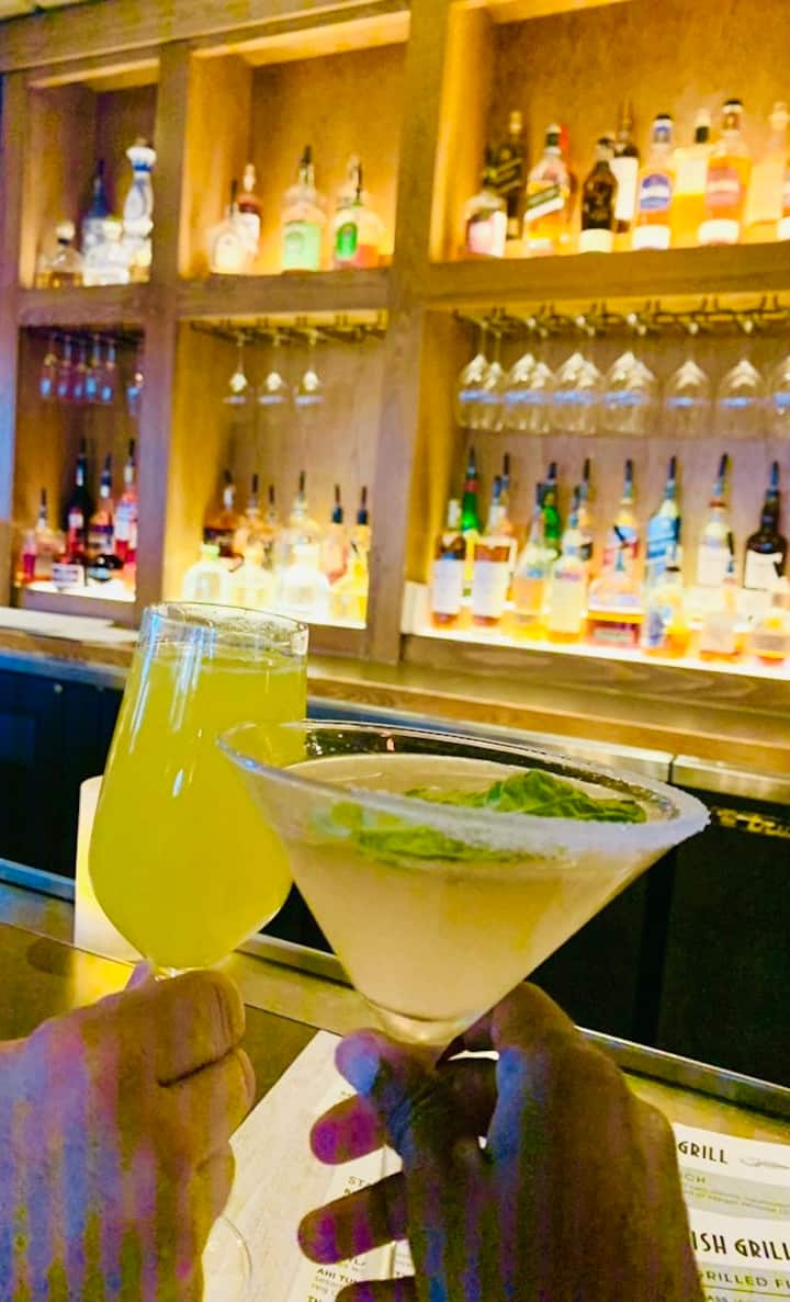 Classic cocktails with friends