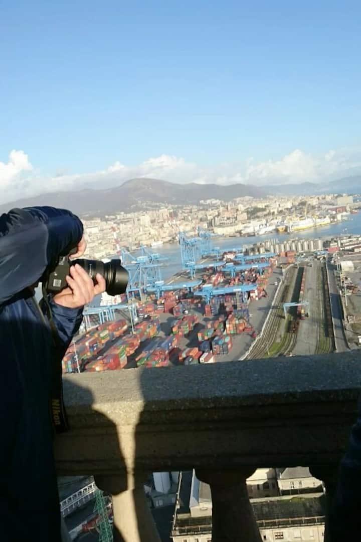 Dal terrazzo panoramico Lanterna