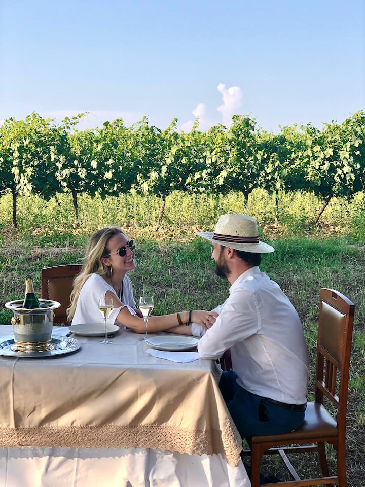 Country food between the vineyards