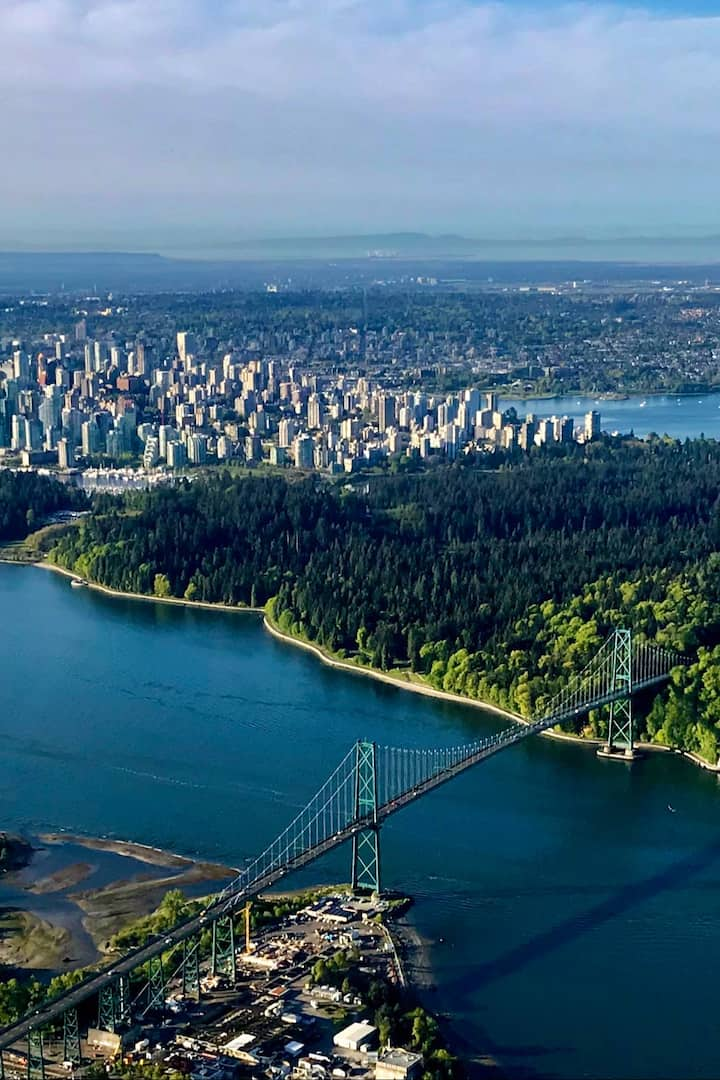 Lions Gate Bridge with Stanley Park