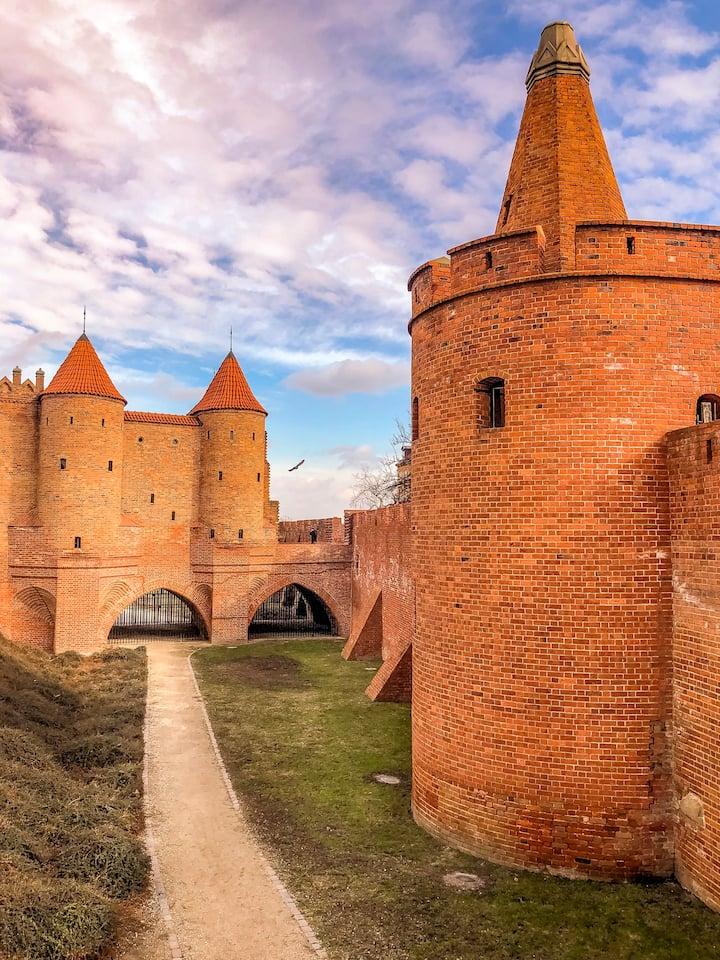 The Barbican &  medieval walls of Warsaw