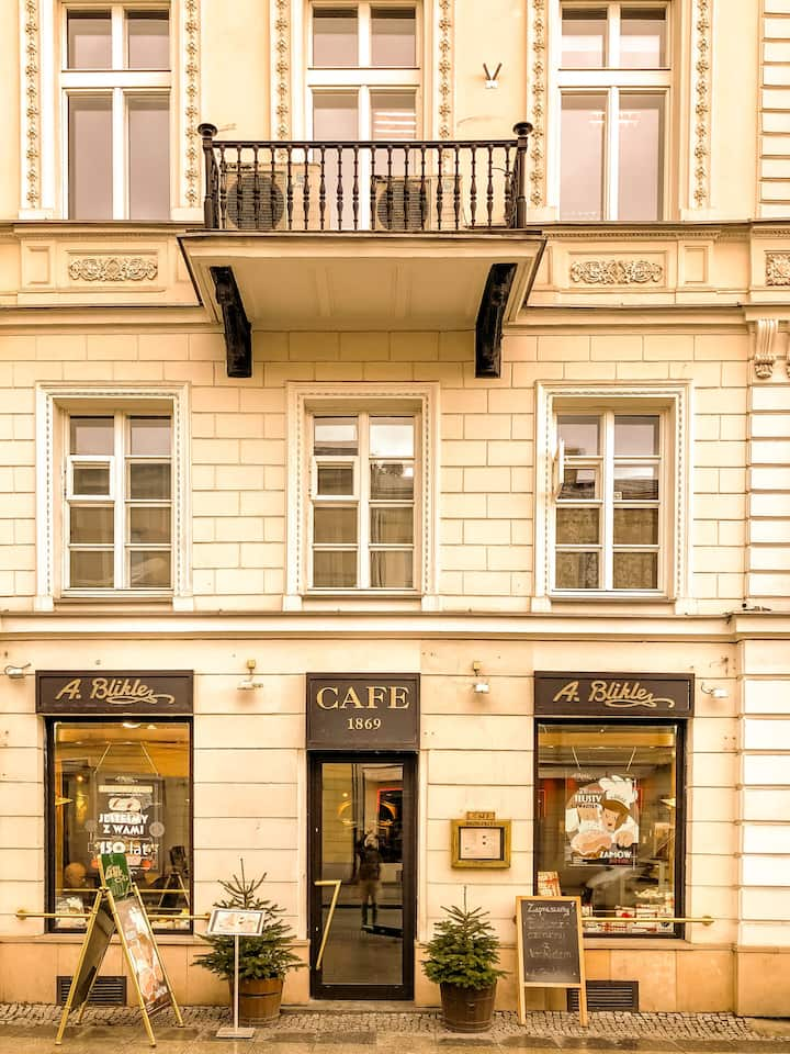 A. BLIKLE Cafe Warsaw founded in 1869