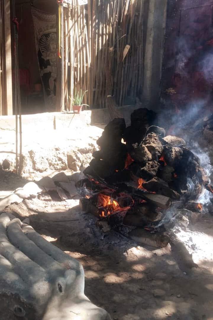 Preparando el fuego