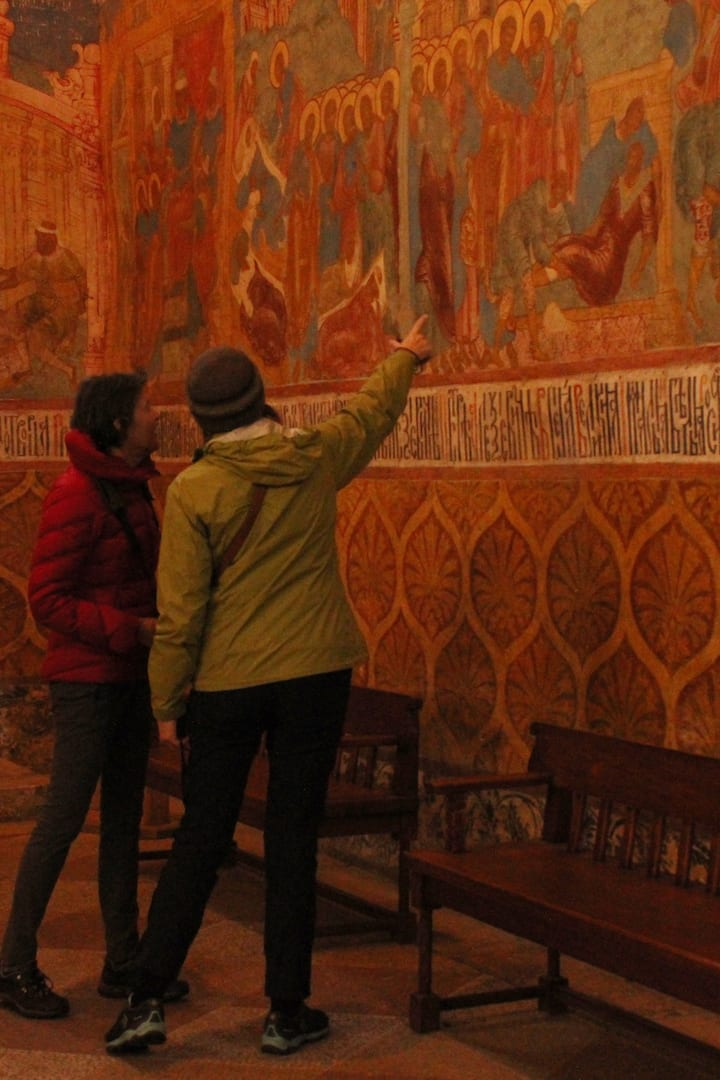 See the ancient frescoes