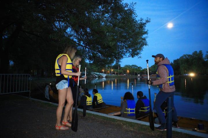 full moon paddle toronto islands