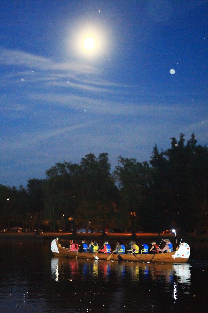 full moon canoe toronto islands