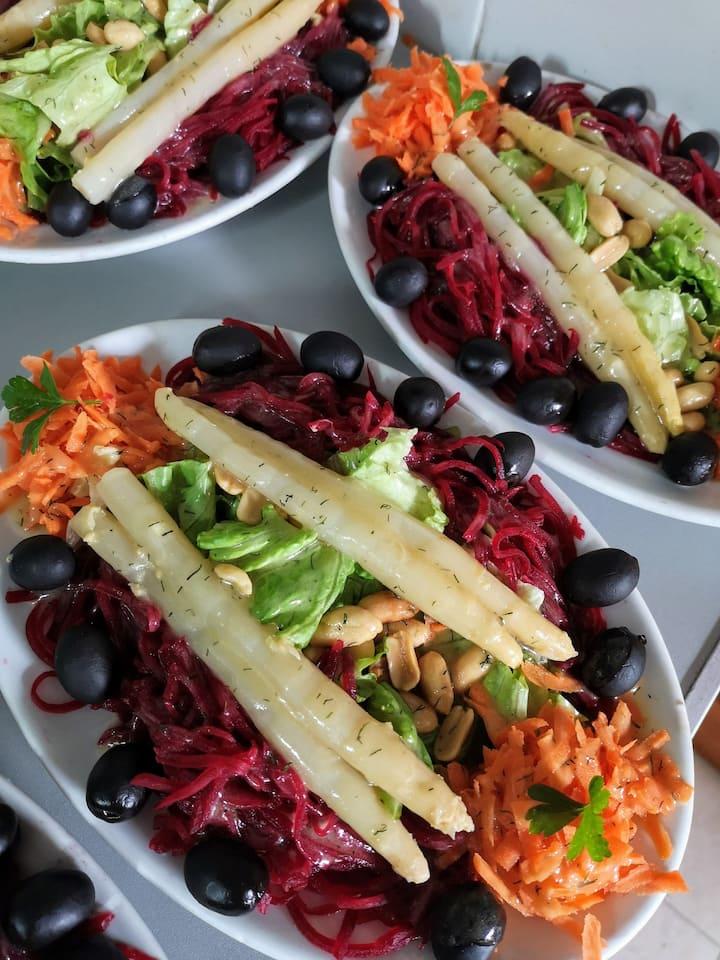 Fresh salad always a must ;)