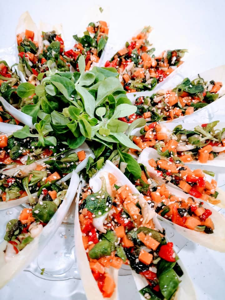 Fresh salad always a must