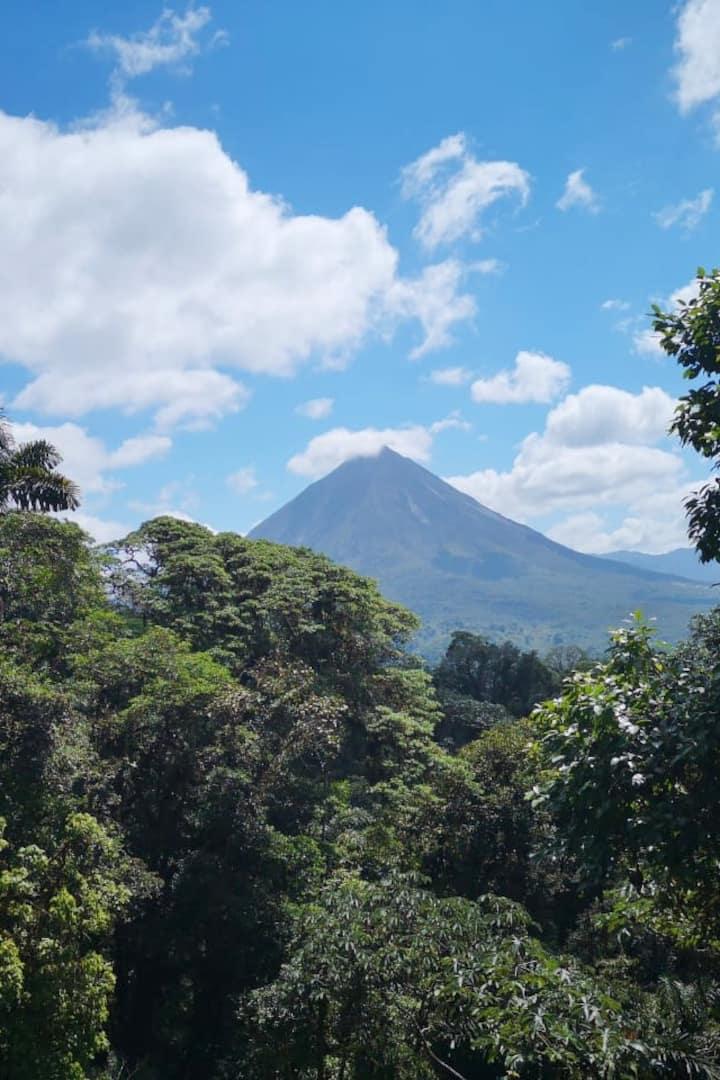 Arenal Volcano from 1st Hanging Bridge