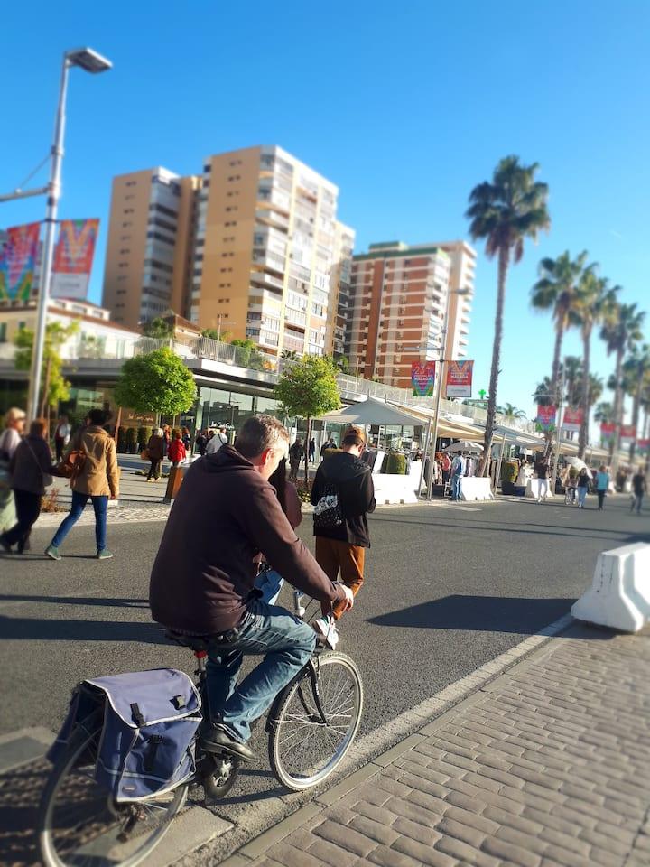 Cycling by the Marina