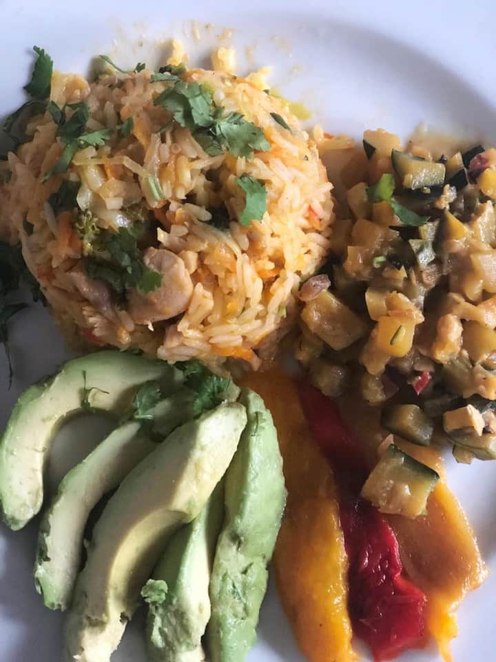 Delicious coconut & shrimp rice