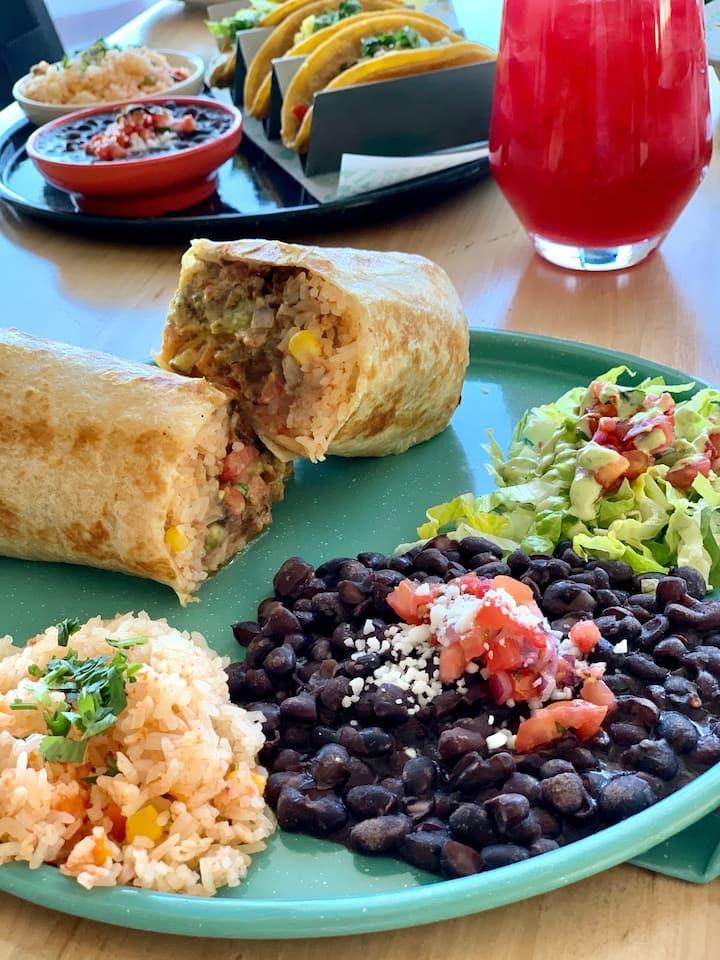 Vegan burrito plate & sides