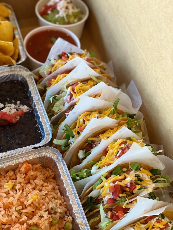 Vegan tacos & sides platter