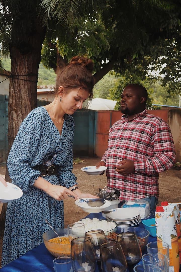 Enjoy a delicious Tanzanian lunch