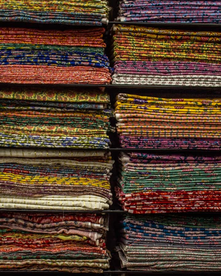 Textile shop in the pink city