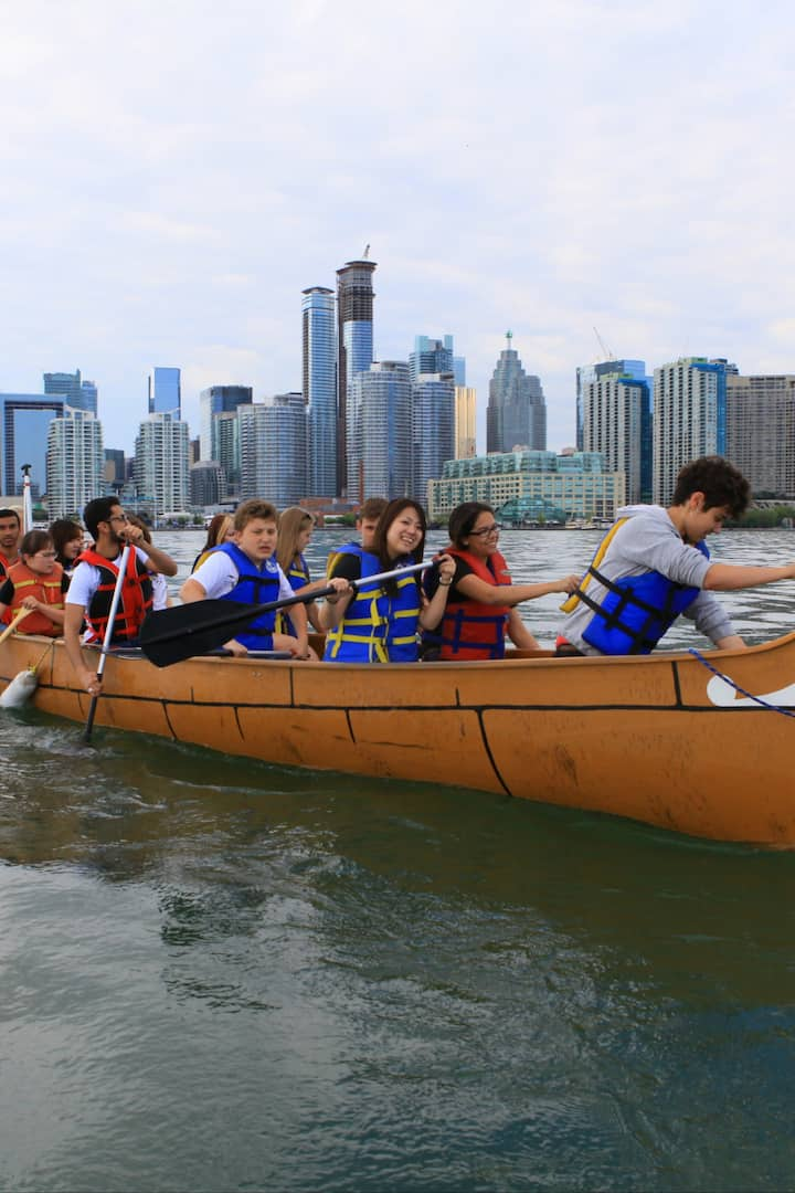 see toronto harbour by canoe