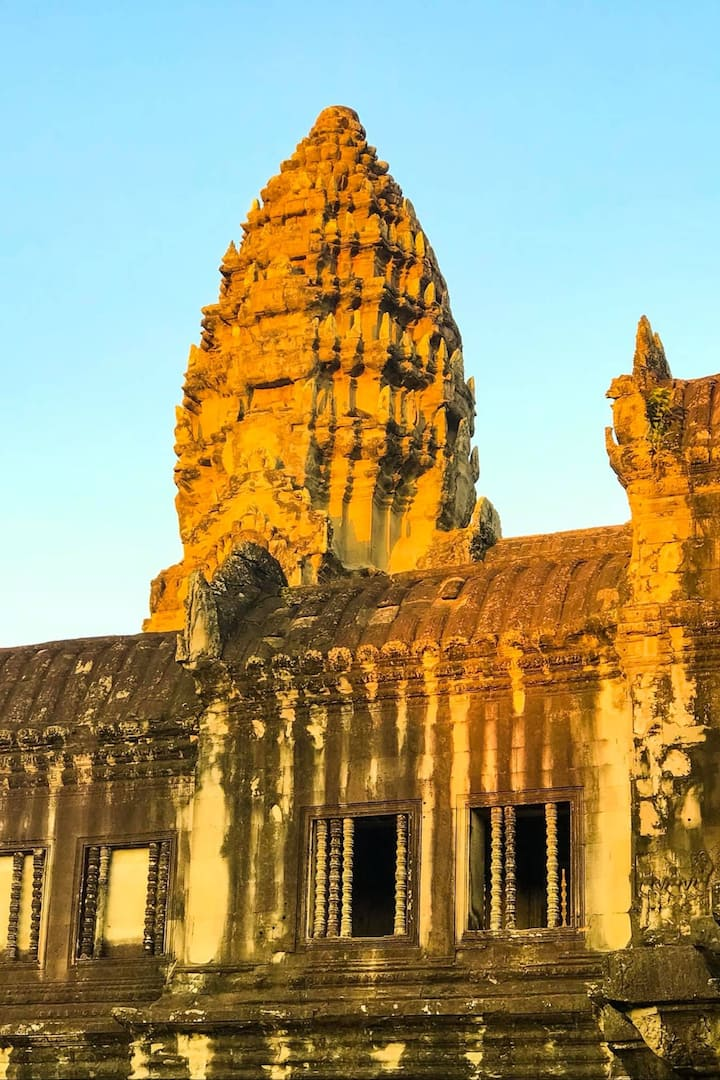 Golden tower of the Angkor Wat Temple