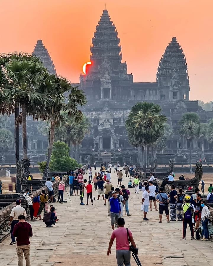 Great sunrise of Angkor