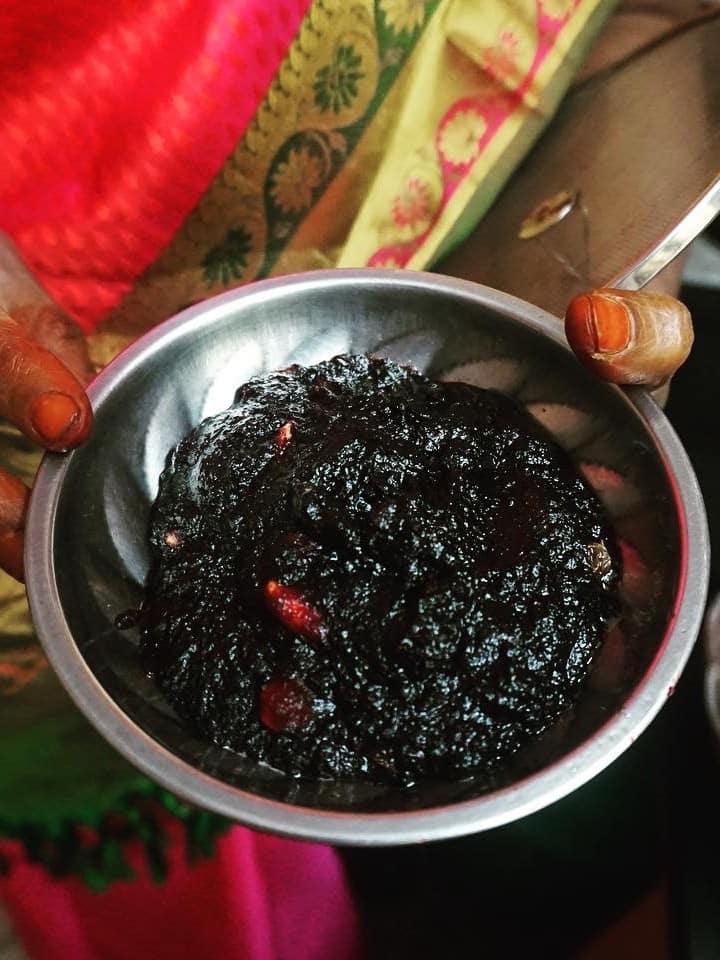 Beetroot pachadi  - Sweet on the platter