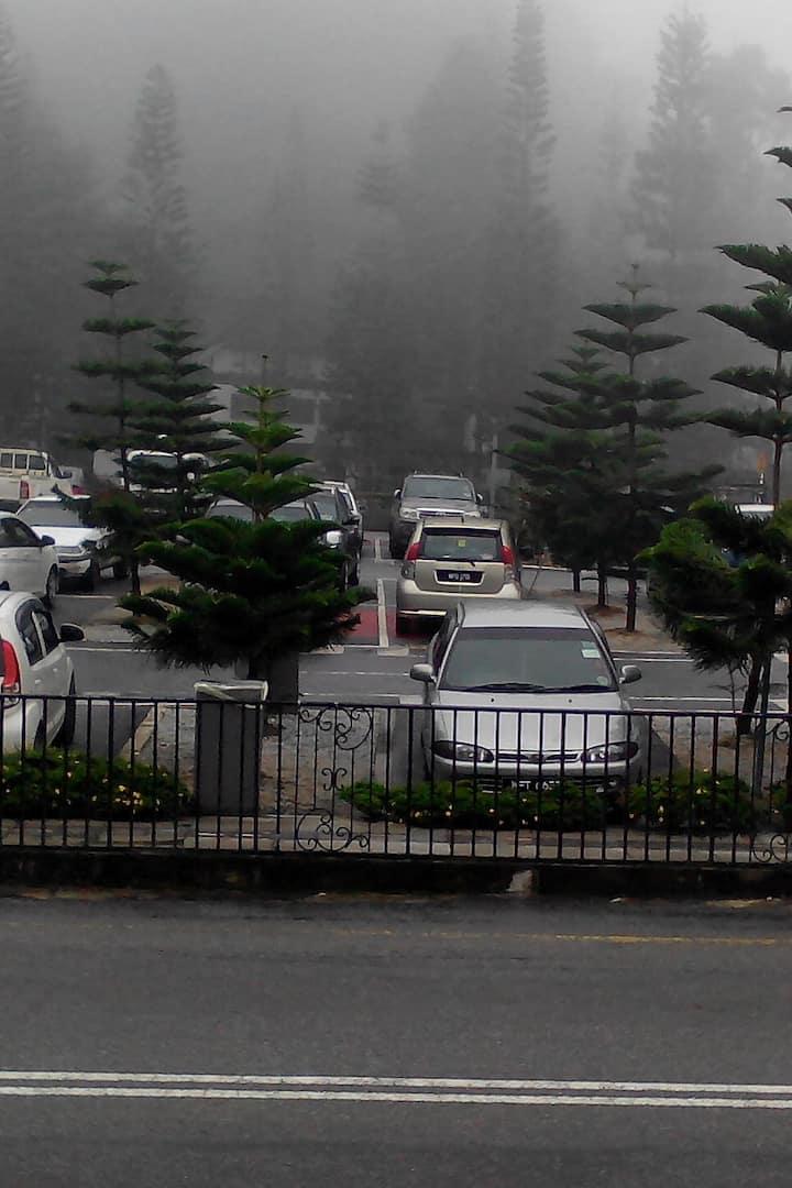 Tanah Rata  on a misty day