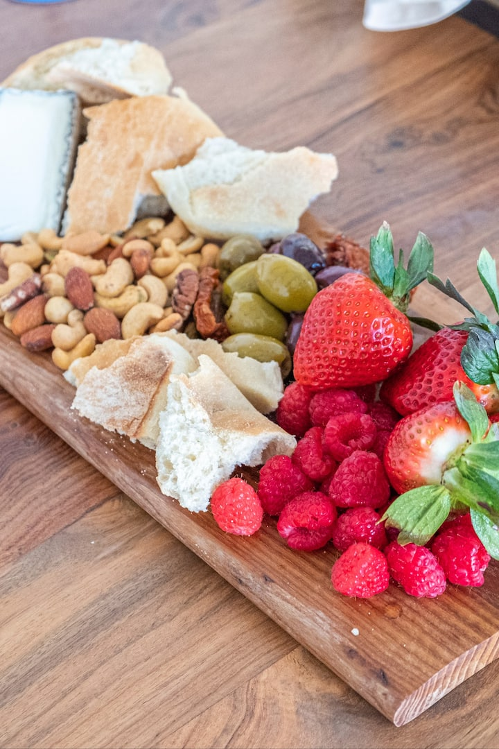 California cheese, bread, and berries!