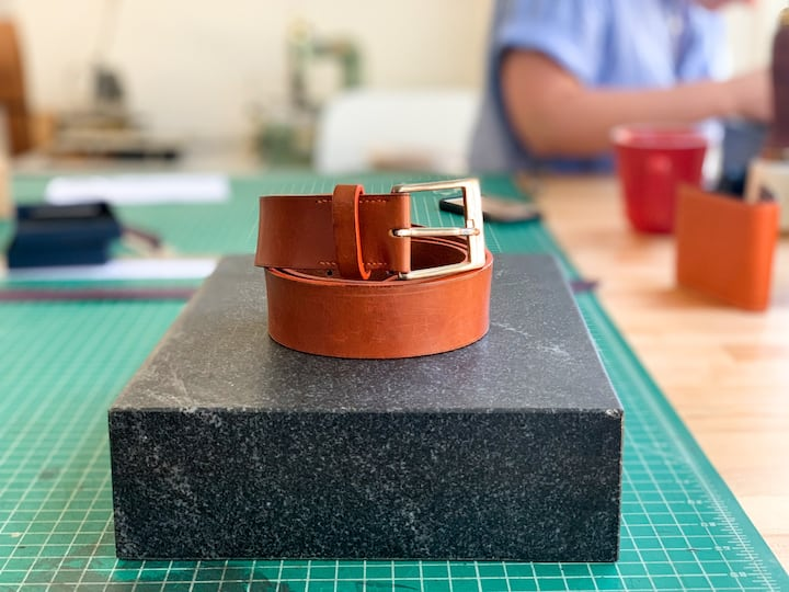 Create your own custom leather belt