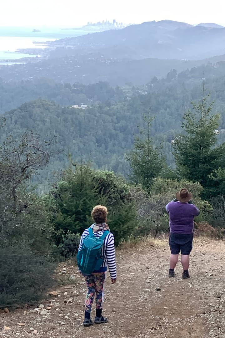 Hiking down, SF in the distance