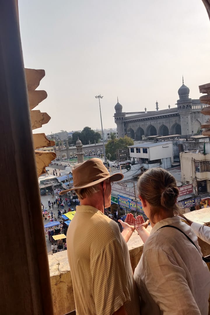 View of the Mecca Masjid!