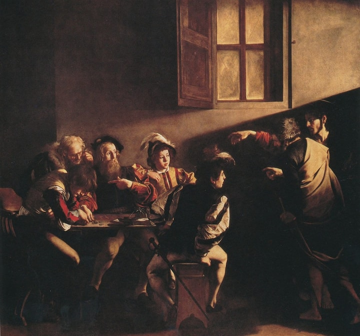"Caravaggio ""The call of st. Matthew"""