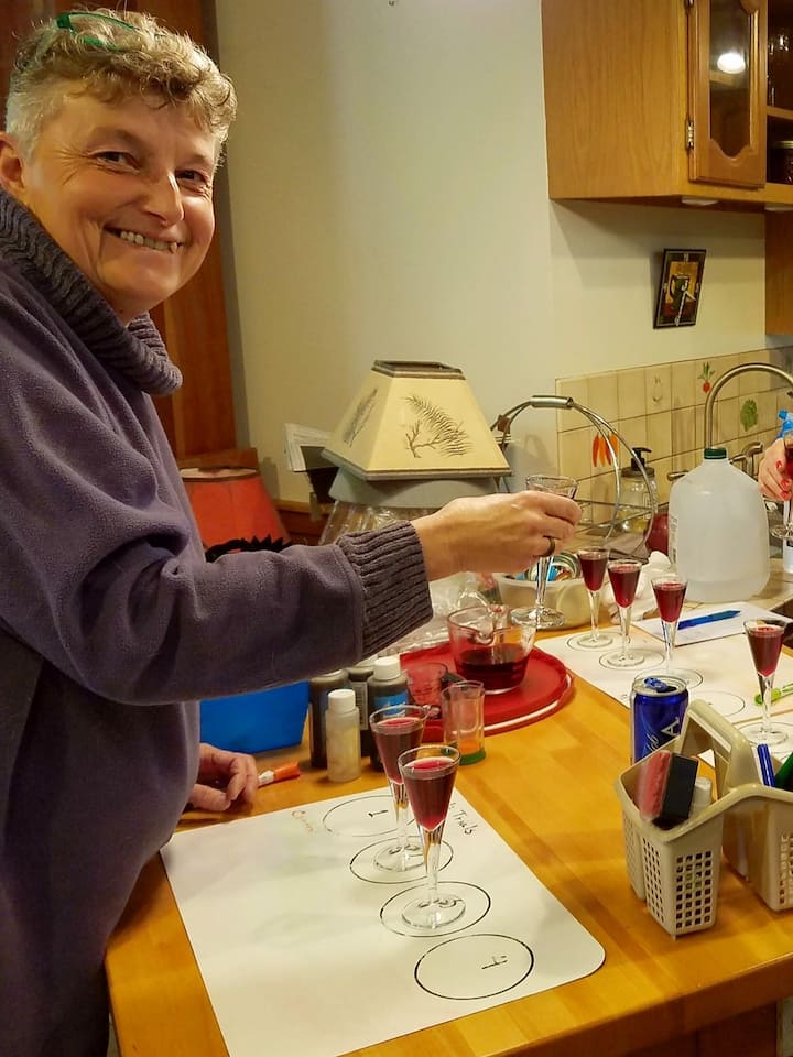Bench trials of homemade wine