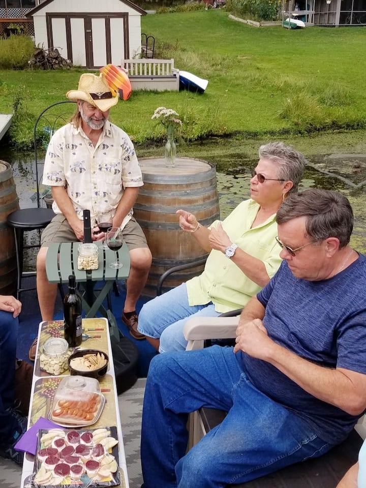 Wine tasting on the Wine Barge