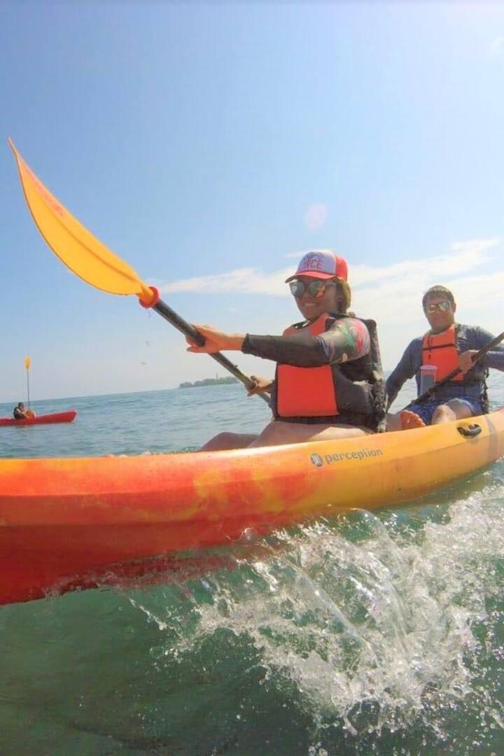 Kayak doble, especial para amigos