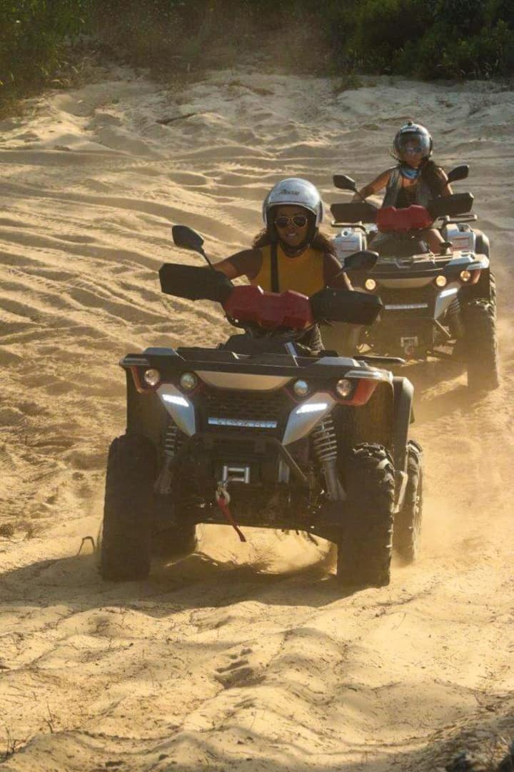 Enjoy the beauty of nature driving ATV