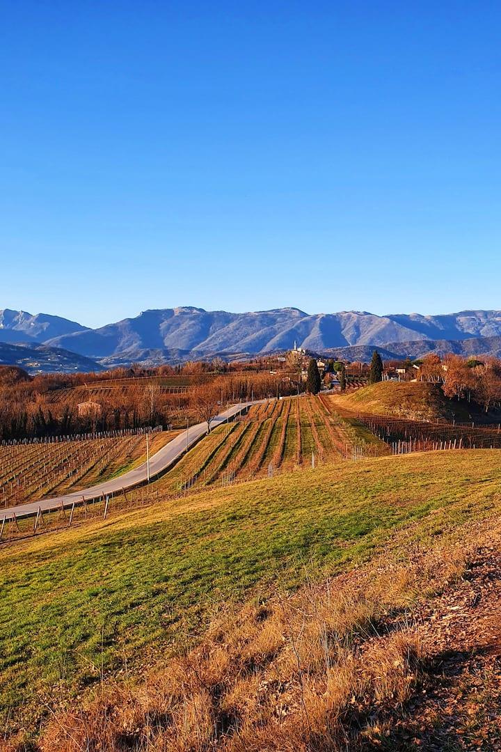 La vista sul paesaggio UNESCO