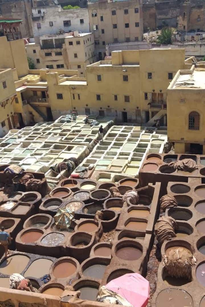 The historical Tannery from a terrace
