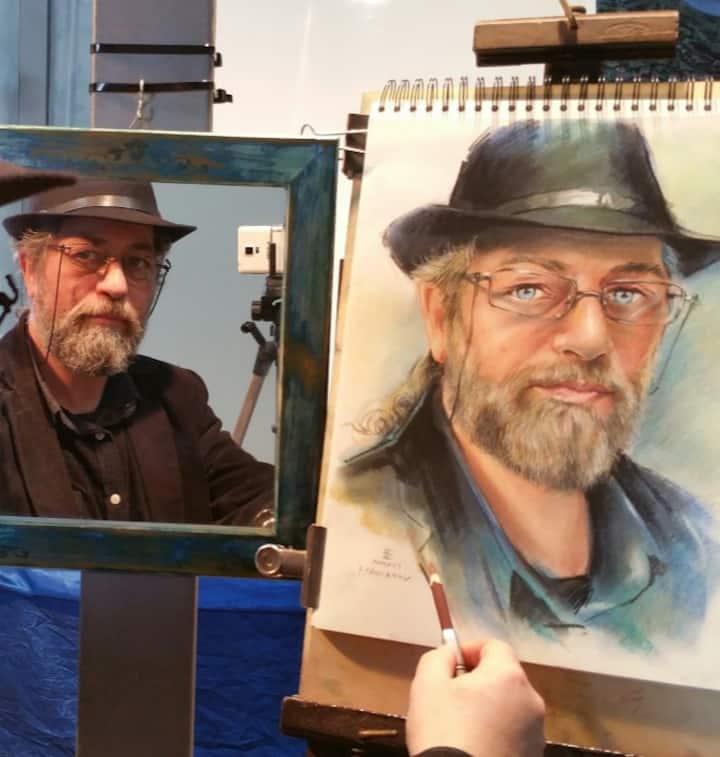 Autoritratto del Maestro Franco Pagliarulo