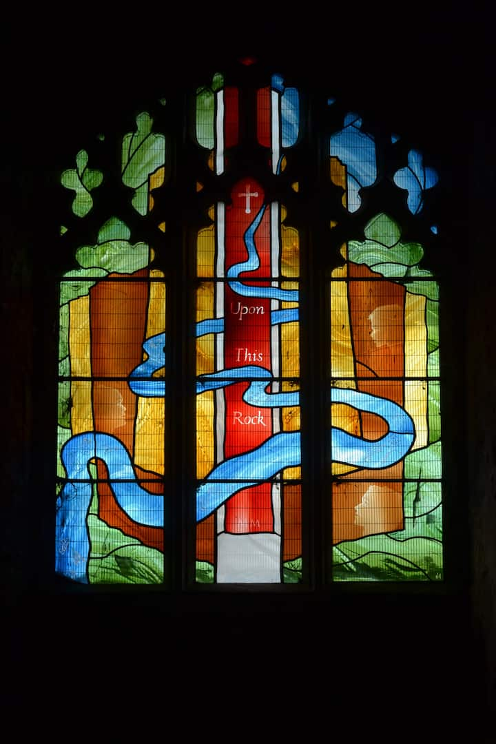The river in stained glass