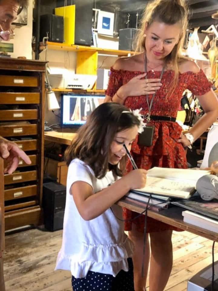 Treasure hunt in Venice with kids