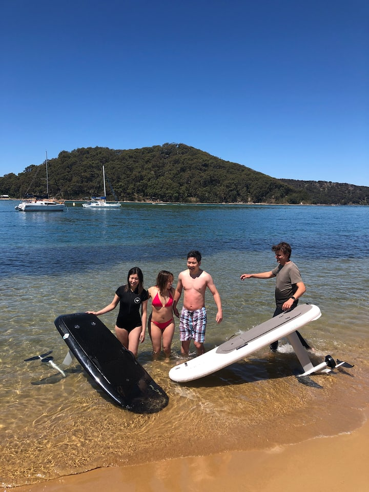 After a group session in Ettalong Beach