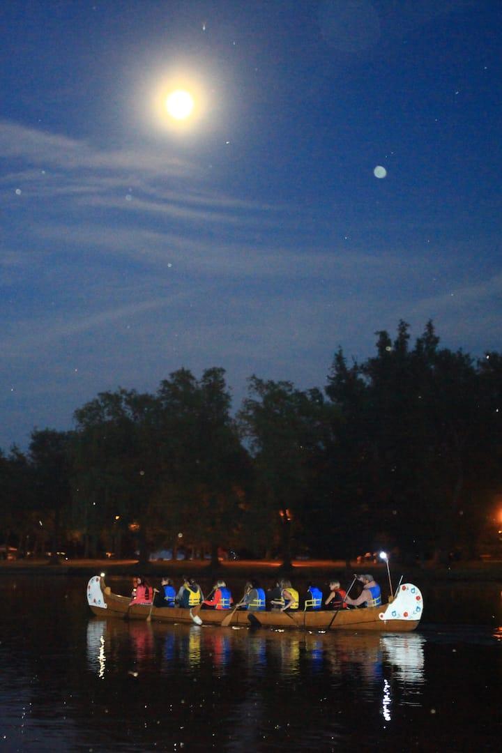 full moon canoe tour toronto