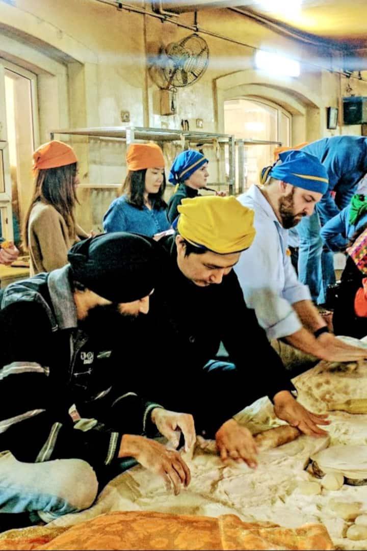 Cooking Experience At Gurudwara