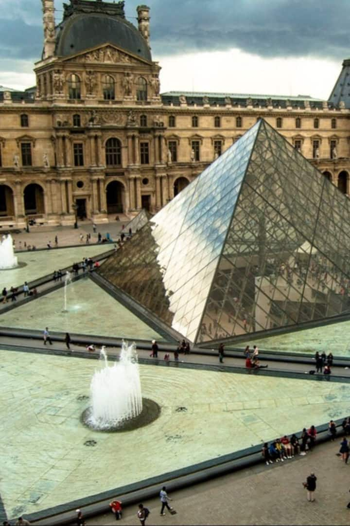 The Louvre famous Glass Pyramid