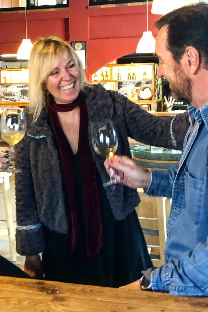 Wine tasting in the first winery